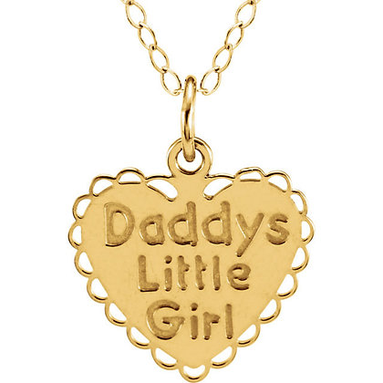 "14K Yellow ""Daddy's Little Girl"" Pendant, Necklace"