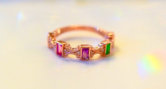 Any Color 14K Gold Or Stones Ring: 3 to 5 Gems