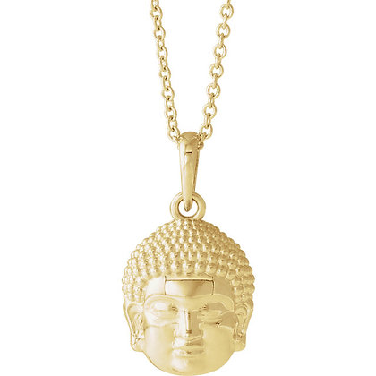 Any Color 14K Gold Buddha Necklace