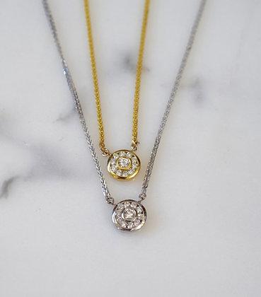 14K White Or Yellow Gold Diamond Necklace