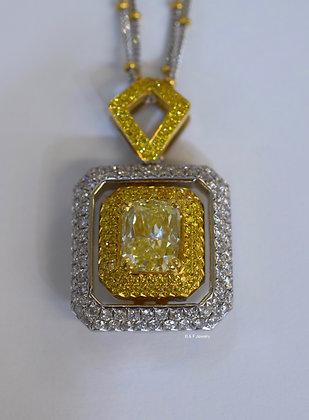 EGL Certified Cushion Cut Diamond Pendant With Reversible Cross