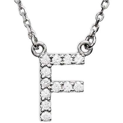 SALE! Any Color 14K Gold Diamond Initial Necklace- Has Matching Bracelet
