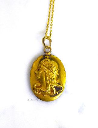 Antique Carved Gold Necklace