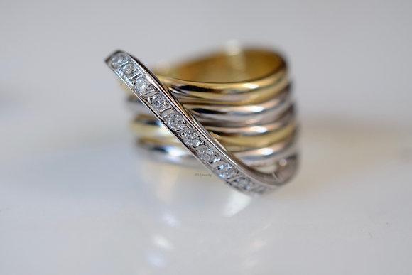 14K Bi-color Gold Diamond Ring