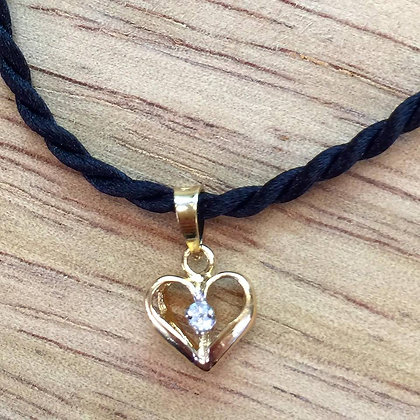 14K Yellow Or White Gold Diamond Heart Pendant- Has Ring And Earrings