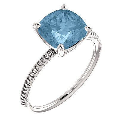 Sky Blue Topaz Ring: 14K Gold- Any Color