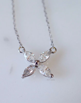 Custom Order: Marquise Diamond Butterfly Necklace