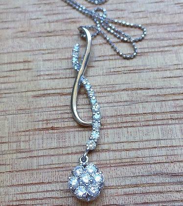Diamond Floral Infinity Journey Necklace