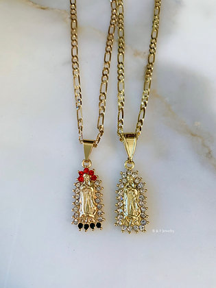 Virgin Mary Necklace In 2 Colors