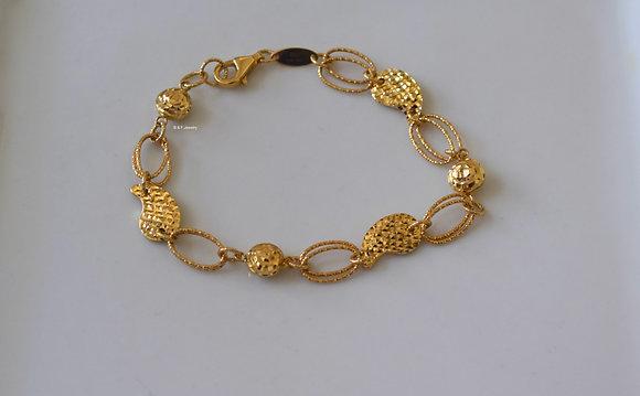Diamond Cut 14K Yellow Gold Bracelet