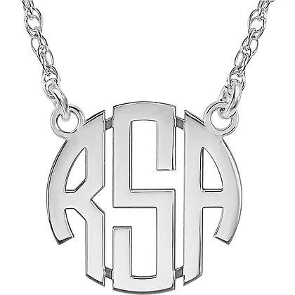 Any Color 14K Custom Monogram Necklace- Has Bracelet