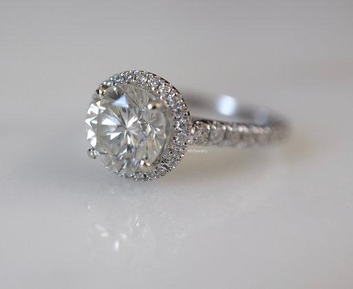 EGL 1.88 Carat Round Brilliant Engagement Ring