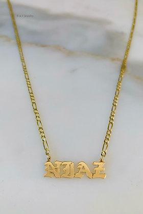 Unisex 14K Gold Name Necklace