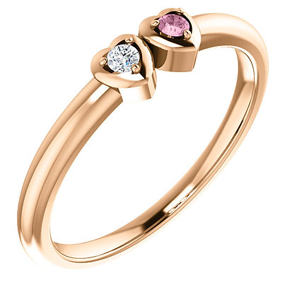 Any Color 14K Gold Or Gems- 1 to 5 Stone Ring