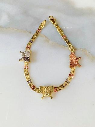 Tricolor Butterfly Bracelet