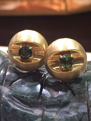 Green Tourmaline Cufflinks