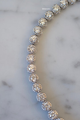 14K White Gold 6 Carat Diamond Tennis Bracelet