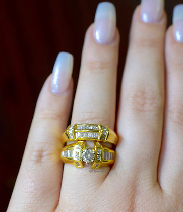 Round & Baguette Diamond Ring And/Or Band