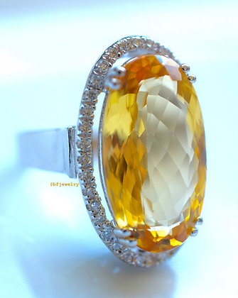 11.59 Ct. Imperial Topaz & Diamond Ring: Appraised