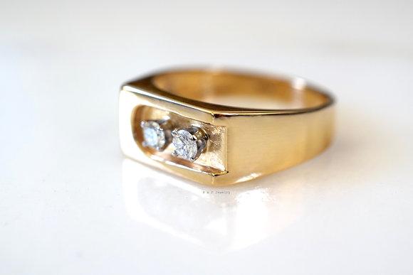 Men's 14K Gold Diamond Ring