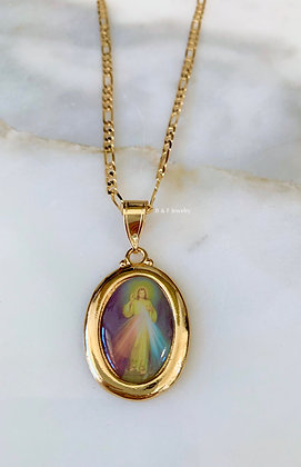Oval Jesus Necklace