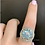 Thumbnail: Platinum Vintage Style Aquamarine And Diamond Ring