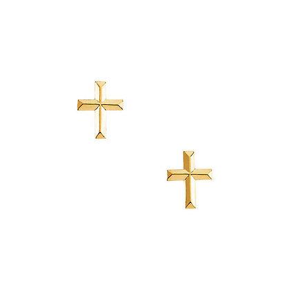 Petite 14K Gold Cross Earrings