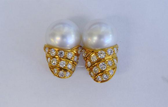 Pearl & Diamond Earrings: Clip On Or Pierced Options