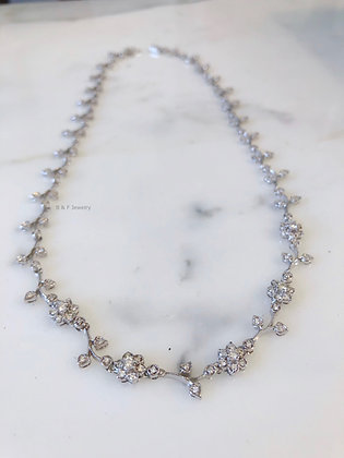Diamond Floral Necklace- Has Matching Jewelry