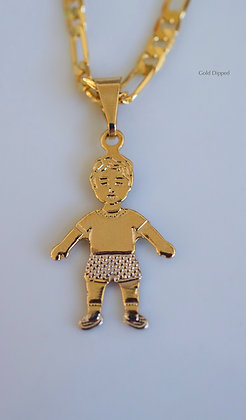 Bicolor Gold Plated Children Pendants Featuring 1 To 3 Children