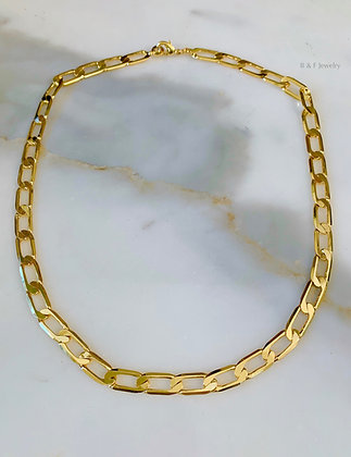 Unisex Extra Thick Gold Plated Figaro Chain In Multiple Lengths