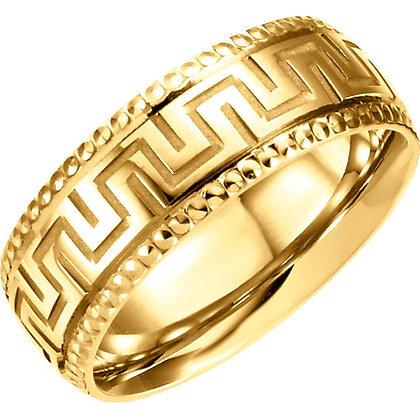 Unisex 14K Yellow Design Bands