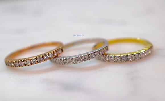 Any Color 14K Gold Diamond Band
