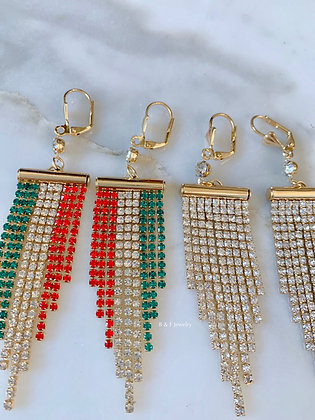 Gold Plated Chandelier Earrings In 2 Styles