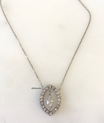 Repurposed Vintage Marquise-Shape Diamond Necklace