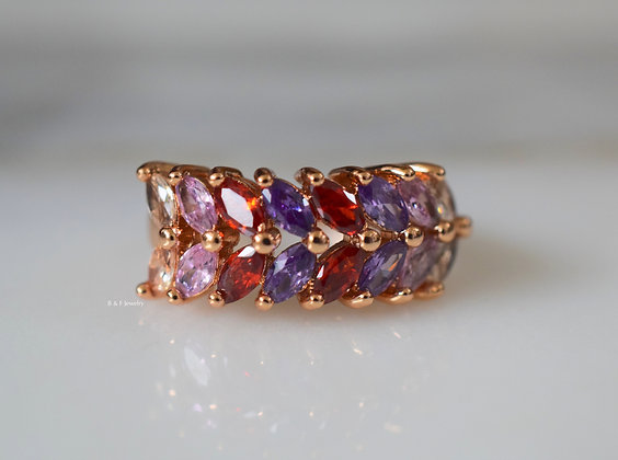 Multicolor Marquise Band