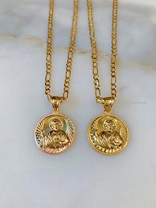 Saint Jude Medallion Necklace In 2 Styles