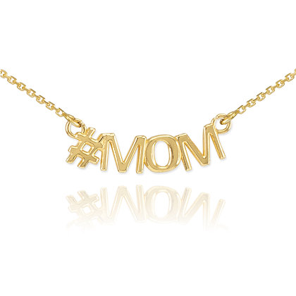 Hashtag Mom Necklace
