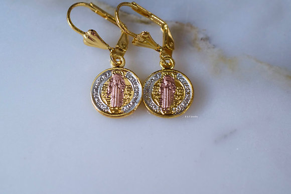 Tricolor Saint Ben Earrings