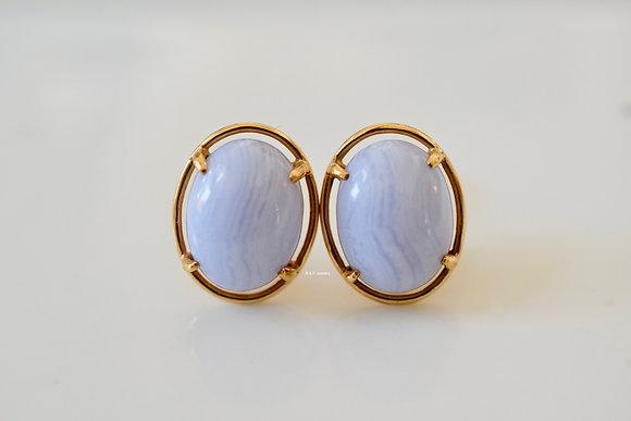 Vintage Lavender Jade Earrings