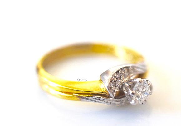 New Vintage Diamond Bridal Set