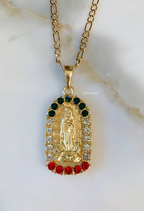 Unisex Our Lady Of Guadalupe Necklace