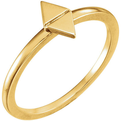 Any Color 14K Gold Geometric Ring And/Or Earrings