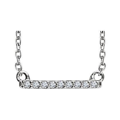 Petite Diamond Bar Necklace: 14K, Any Color