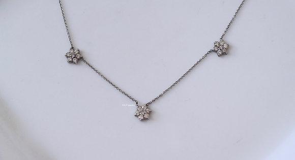 0.50 Carat Floral Diamond Necklace