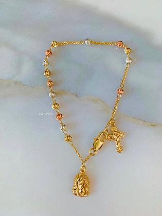 Tricolor Rosary Bracelet