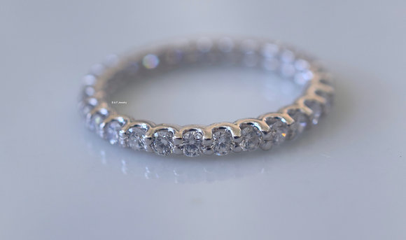 0.80 Carat Round Diamond Eternity Band