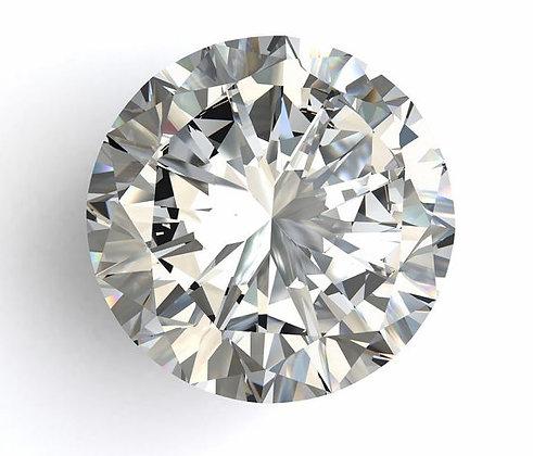EGL 1.53 Carat Round Brilliant Cut SI2 G Diamond