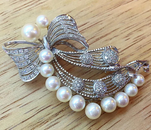 Cultured Pearl Brooch/Pendant