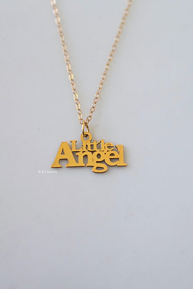 "14K Yellow ""Little Angel"" Necklace Or Choker"